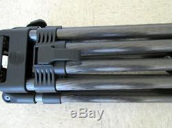 100mm Sachtler Tripods CF-100ENG HD Carbon Fiber Tripod 5390 Mid-Level Spreaders