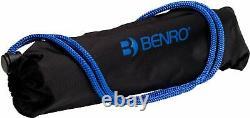 BENRO- Slim 58 Carbon Fiber Tripod Blue/Black SAME DAY SHIPPING