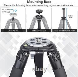 Carbon Fiber Bowl Tripod Heavy Duty Bowl Tripod with 75mm Bowl and Bowl Adapter