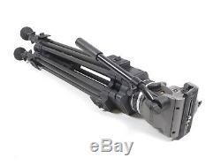 Cartoni Laser Z100 Head 100mm 2 Stage Carbon Fiber Tripod Legs (Mid Spreader)