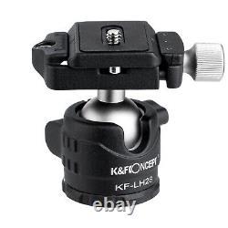 EXPLORER! K&F Concept Carbon Fiber Travel Tripod Monopod Ball Head 5 Section