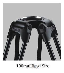 Eimage GC102 3-sections Carbon Fiber tripod leg 100mm bowl tripod payload 60kg