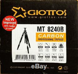 Giottos MT8240B Lightweight Carbon Professional Tripod