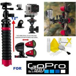 GoPro BLACK SEEKER BACKPACK AWOPB-001 + CARBON FIBER FLEXIBLE TRIPOD FOR GOPRO
