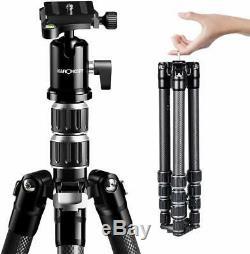 K&F Concept B210 Lightweight Carbon Fiber Portable Tripod 61 Fr Canon Nikon SLR