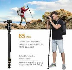 K&F Concept TC2534 66 Carbon Fiber Camera Tripod Lightweight Portable Monopod
