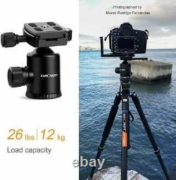 K&F Concept TC2534 Pro Camera Carbon Fiber Tripod Monopod Ball Head Mount 66 BK