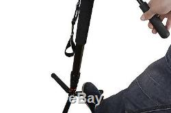 KingJoy Lightweight Carbon Fiber Video Camera Monopod Tripod MP-1358C, fluid head
