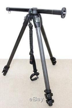 Manfrotto 055MF3 magnesium and carbon fibre tripod with carry strap