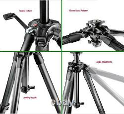 Manfrotto 057 Carbon Fiber Tripod with Geared Column Mfr # MT057C4-G
