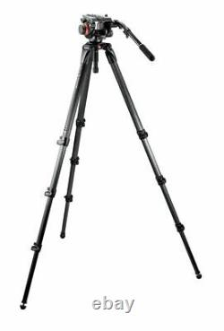 Manfrotto 504HD Head with 536K 3-Stage Carbon Fiber Tripod System