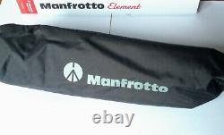 Manfrotto Element Carbon Large Tripod MKELEB5CF-BH +Bag. No head. NEW