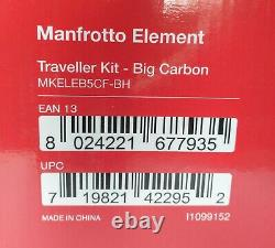 Manfrotto Element Carbon Large Tripod MKELES5CF-BH +Bag. No head. NEW