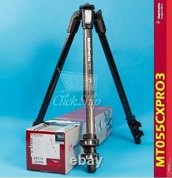 Manfrotto MT 055CXPRO3 Carbon Fiber Tripod Holds 19.8 lb (9kg) Mfr # MT055CXPRO3