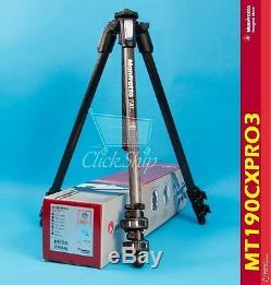 Manfrotto MT 190CXPRO3 Carbon Fiber Tripod Holds 15.4 lb (7kg) Mfr # MT190CXPRO3