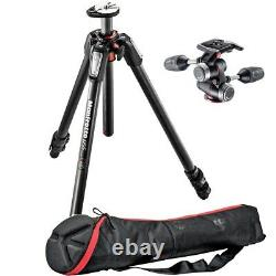 Manfrotto MT055CXPRO3 Carbon Fiber Tripod with MHXPRO-3W 3-Way Head with carry bag