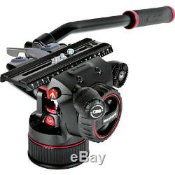 Manfrotto Nitrotech N12 Head & Carbon Fiber Twin Leg Video Tripod Kit