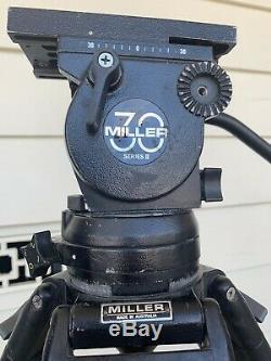 Miller 30 Series II Fluid Head with Tripod, Carbon Fiber