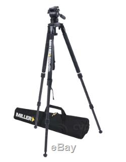 Miller solo air tripod with camera plate and miller bag
