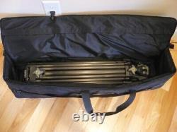 Mint Miller dual stage 100mm Carbon Fiber tripod, floor spreader & padded case