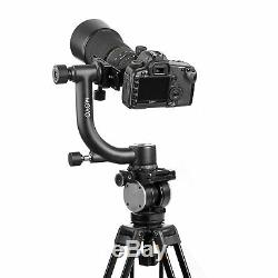 Movo GH600 Vertical Mount Carbon Fiber Gimbal Tripod Head with Quick-Release Plate