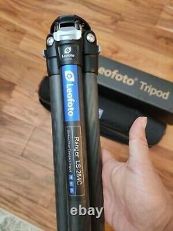 Open BoxLeofoto LS-284C Professional Carbon Fiber Tripod with Bag