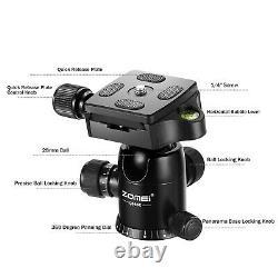 Q666c Portable Pro Travel Carbon Fiber Tripod monopod&Ball Head for DSLR Camera