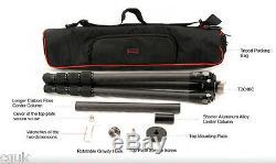 SUNWAYFOTO T2C40C Pro Carbon Fiber Fibre CF 4 Section Tripod Ultra Low Shooting