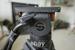 Sachtler 18p Carbon Fiber tripod. With case and mid-spreader. (CF, Fibre, 18)