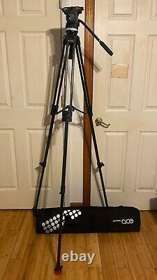 Sachtler Ace XL Fluid Head Tripod withQuick Plate 75 Carbon Fiber Leg & Carry Case