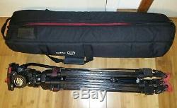Sachtler FSB 6 Fluid Head Tripod with Quick Plate 75 Carbon Fiber Leg & Carry Case
