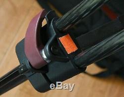 Sachtler FSB 8 Fluid Head with Quick Plate 75 Carbon Fiber Tripod Leg Case VIDEO