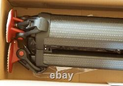 Sachtler Flowtech 75 MS carbon fiber tripod, with mid spreader 4585, NIB
