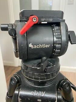 Sachtler System Video 18 carbon fibre tripod, with Ronford Baker Hard Case