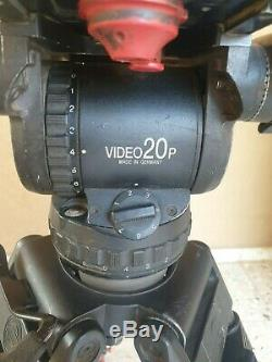 Sachtler Video 20p Fluid Head 100mm Ball Carbon Fiber Tripod System