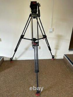 Sachtler Video18p Tripod System carbon fibre ENG 2 stage legs fully serviced