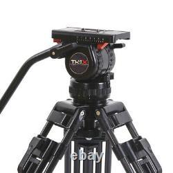 Trix/TERis V8T PLUS Heavy Carbon Fibre Video Camera Tripod Kit Fluid Head