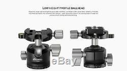 US SellerLeofoto LS-254C + LH30 +252C Professional Carbon Fiber Tripod Set