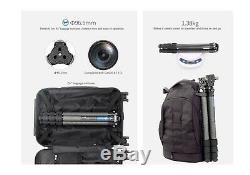 US SellerLeofoto LS-324C + LH40 +282C Professional Carbon Fiber Tripod Set
