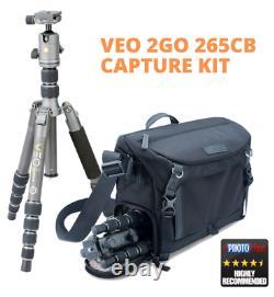 Vanguard VEO 2 GO 265CB Tripod + VEO GO 34M BK Bag Capture Kit -carbon Fibre