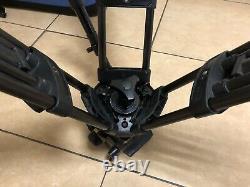 Vinten Vision 100 Black Bowl 100mm Carbon Tripod Plate Spreader Ribber Feet Case