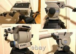 Vinten Vision 12 Carbon Fiber ENG Video Tripod with CF Mid-Spreader 100 mm Bowl