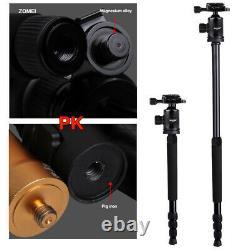 Z818C Professional Carbon Fiber Tripod Monopod, Ball Head Stand for DSLR Camera