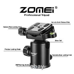 ZOMEI Z669C Carbon Fiber Camera Tripod Monopod Lightweight for Travel Photograph